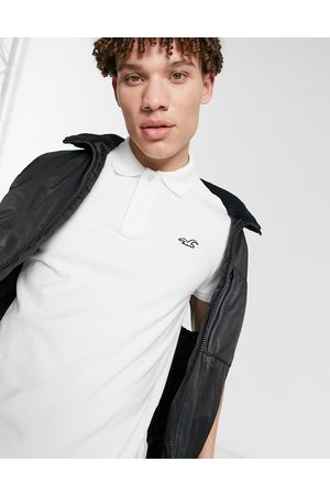 Hollister Icon logo slim fit pique polo in