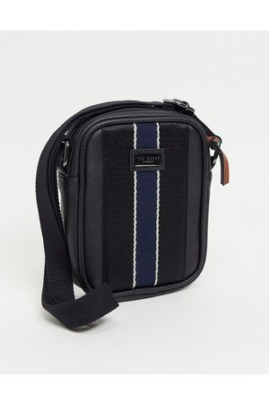 Ted Baker Striped leather dispatch bag