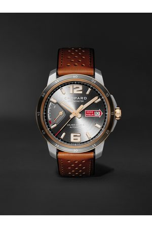 Chopard Men Watches - Mille Miglia GTS Power Control Limited Edition Automatic 43mm, 18-Karat Rose Gold, Stainless Steel and Leather Watch, Ref. No. 168566-6001