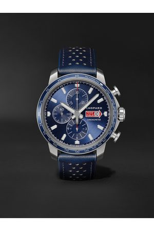 Chopard Men Watches - Mille Miglia GTS Azzurro Chrono Automatic Limited Edition 44mm Stainless Steel and Leather Watch, Ref. No. 168571-3007