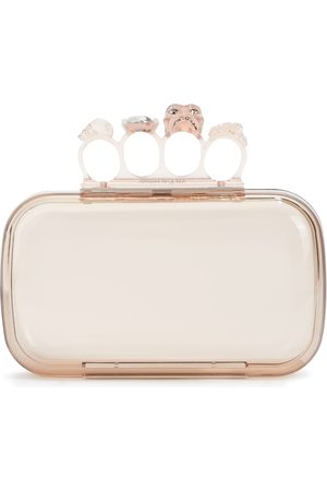 Alexander McQueen Women Clutches - Four Ring embellished PVC clutch