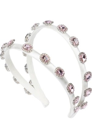 MONNALISA Crystal-embellished headband