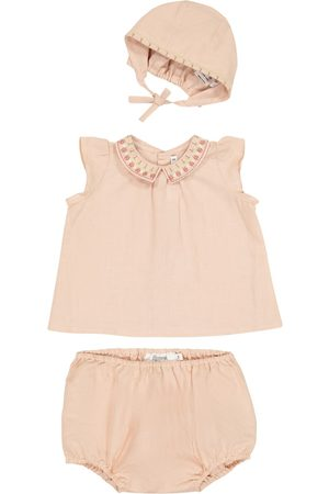 BONPOINT Hats - Baby cotton top, bloomers and hat set