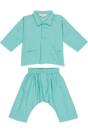 Caramel Pants - Baby Manta Ray cotton shirt and pants set