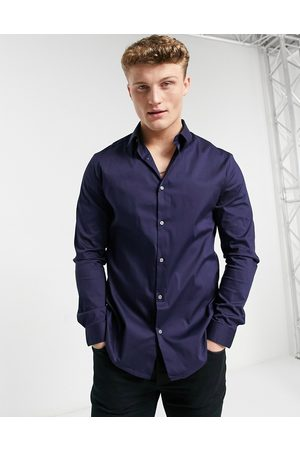 River Island Long sleeve muscle fit shirt in