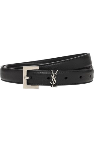 Saint Laurent Men Belts - 2cm Monogram Smooth Leather Belt
