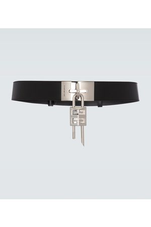 Givenchy Leather belt with padlock