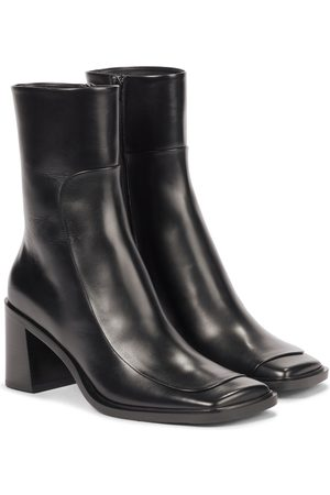 The Row Patch leather ankle boots