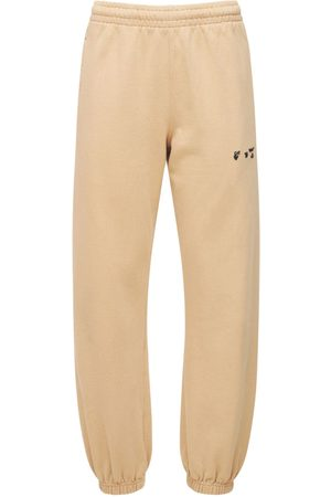 OFF-WHITE Mini Logo Cotton Jersey Sweatpants