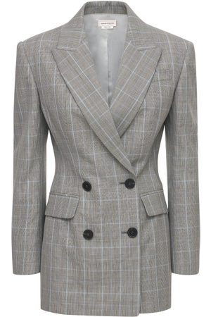 Alexander McQueen Double Breasted Prince Of Wales Blazer