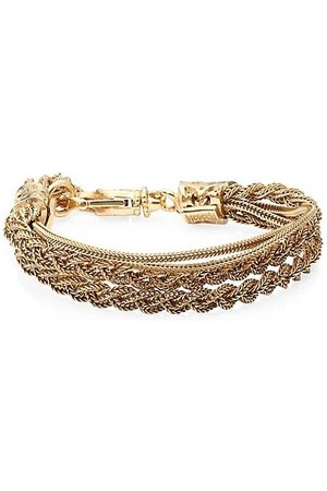 EMANUELE BICOCCHI 24K Goldplated Sterling Silver Double Braided Bracelet