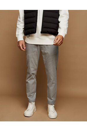 Topman Stripe skinny joggers in and white