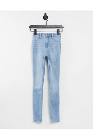 Hollister Women High Waisted - High waisted skinny jeggings in lightwash