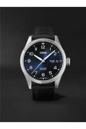 Oris Men Watches - Big Crown ProPilot Big Day Date Automatic 44mm Stainless Steel and Leather Watch, Ref. No. 01 752 7760 4065-07 5 22 08LC