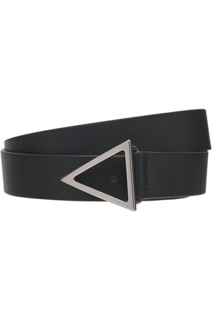 Bottega Veneta 2cm V Buckle Leather Belt