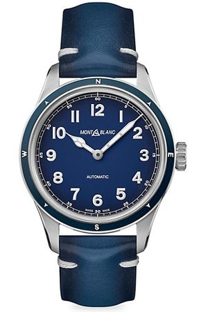 Mont Blanc Watches - 1858 1858 Automatic Leather-Strap Watch