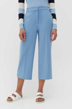 Chinti And Parker Wool-Twill Cropped Trouser in Sky