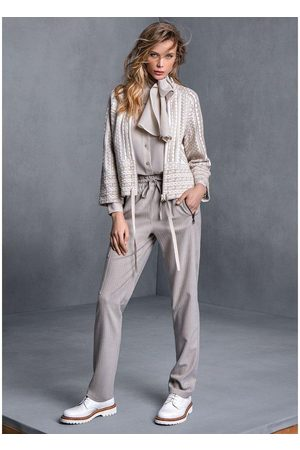 TRICOT CHIC Wool straight-leg trousers