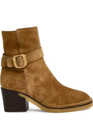 Tod's WOMEN'S XXW78C0DF60RE0S415 SUEDE ANKLE BOOTS