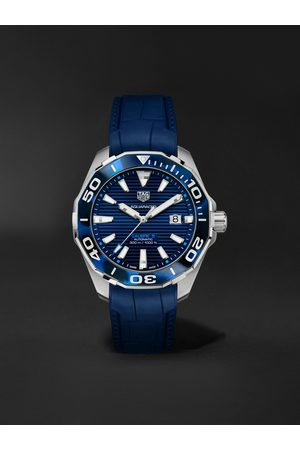 Tag Heuer Men Watches - Aquaracer Automatic 43mm Steel and Rubber Watch, Ref. No. WAY201P.FT6178
