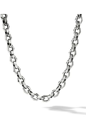 David Yurman Chain Torqued Faceted Chain Link Necklace