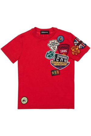 Dsquared2 Girls T-shirts - Cotton Jersey T-shirt W/ Patches