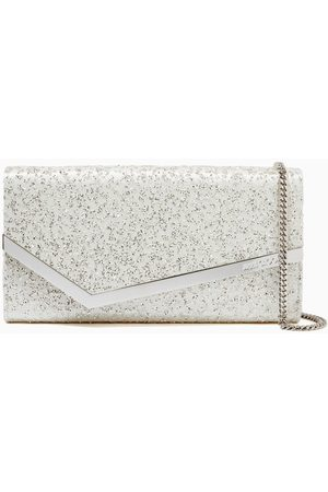 Jimmy Choo Women Clutches - Emmie Clutch Bag in Glitter Tulle