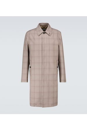 CARUSO Men Trench Coats - Prince of Wales checked trench coat
