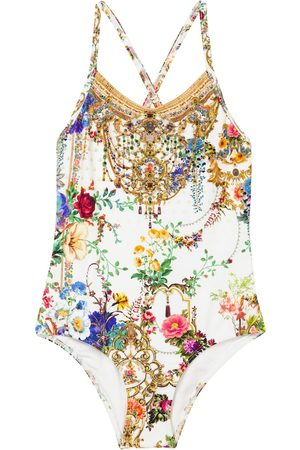 Camilla Girls Swimming Costumes - Embellished printed swimsuit
