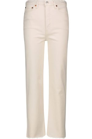 RE/DONE Women High Waisted - 70s Stone Pipe high-rise slim jeans