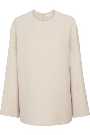 The Row Women Tamar cashmere, wool and silk sweater