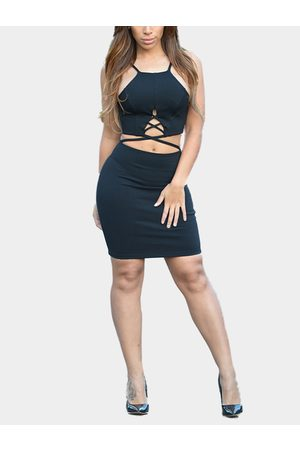 YOINS Strappy Cut Out Bodycon Dress in