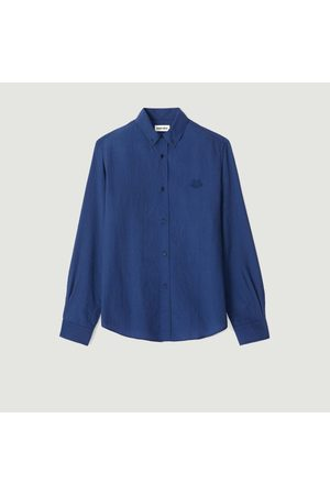 Kenzo Tiger Crest relax fit casual shirt Ink