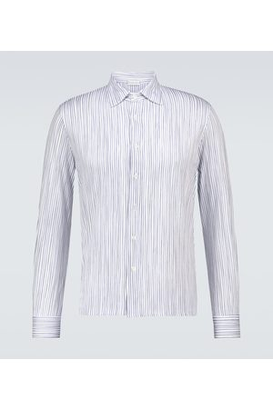 Caruso Long-sleeved striped cotton shirt