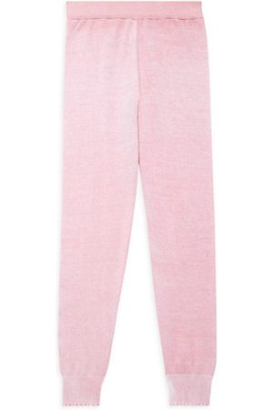 MINNIE ROSE Girls Tracksuit - Little Girl's and Girl's Reverse Printed Frayed Joggers
