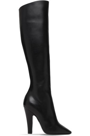 Saint Laurent Women Knee High Boots - 110mm 68 Tall Leather Boots
