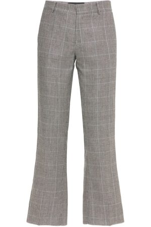 COOL Skater Wool & Linen Check Cropped Pants