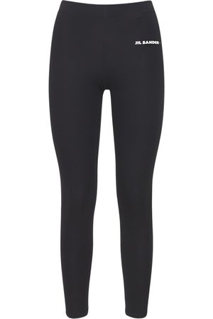 JIL SANDER Women Leggings - Logo Stretch Technical Jersey Leggings