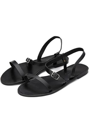 YOINS Pin Buckle Strap Open Toe Simple Slip-on Style Sandals