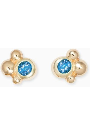 Anzie Fleur Cluster Studs in 14kt Yellow Gold