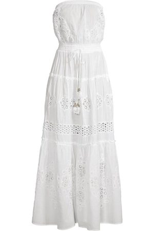 Ramy Brook Vienna Lace Eyelet Strapless Maxi A-Line Dress