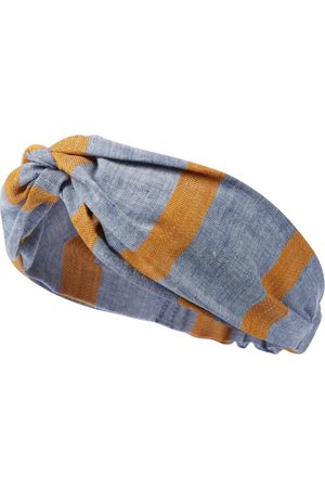 PAADE Sasha striped linen and cotton headband