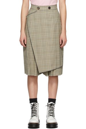 SJYP Check Culotte Shorts