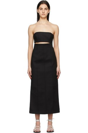 SIR. Strapless Andre Midi Dress