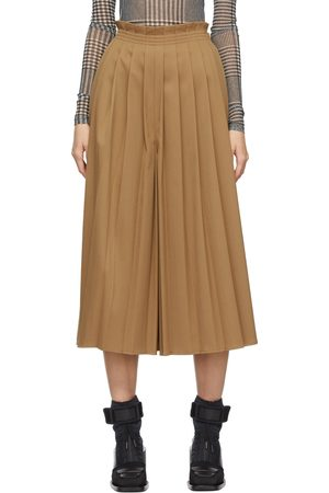 MM6 Maison Margiela Wool Pleated Culottes