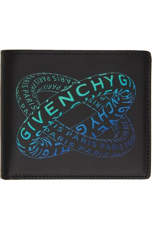 Givenchy & Blue Graphic Logo Bifold Wallet