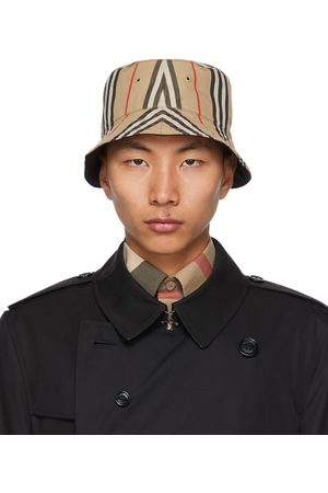 Burberry Reversible Cotton Icon Stripe Bucket Hat