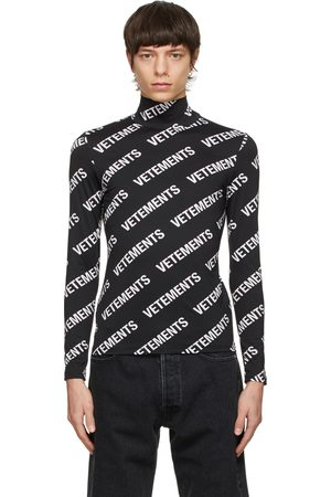 VETEMENTS All-Over Logo Fitted Turtleneck