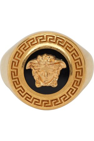 Versace & Gold Enamel Medusa Medallion Ring