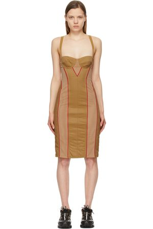 Burberry Tan Quilted Alanis Corset Dress